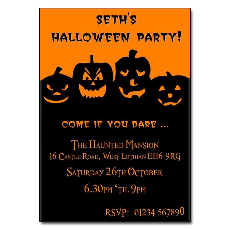 Halloween Invitation Party