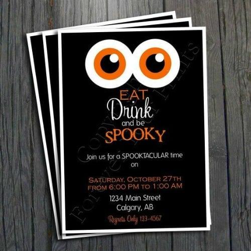 Halloween Party Invitation Ideas
