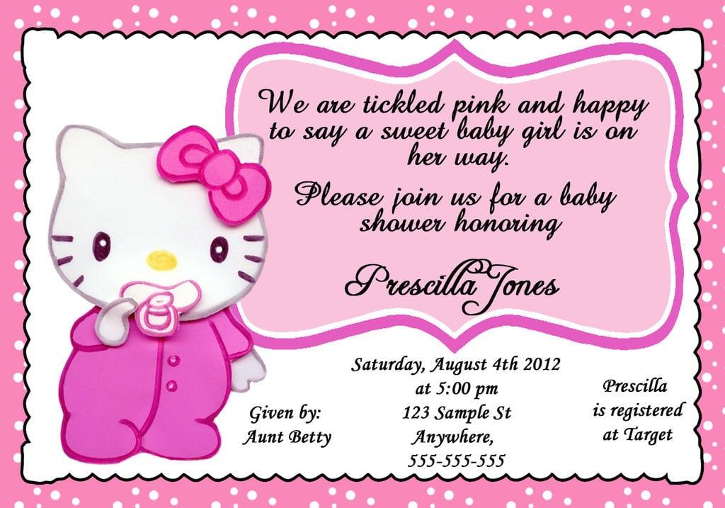 Hello Kitty Baby Shower Invitations Printable Free
