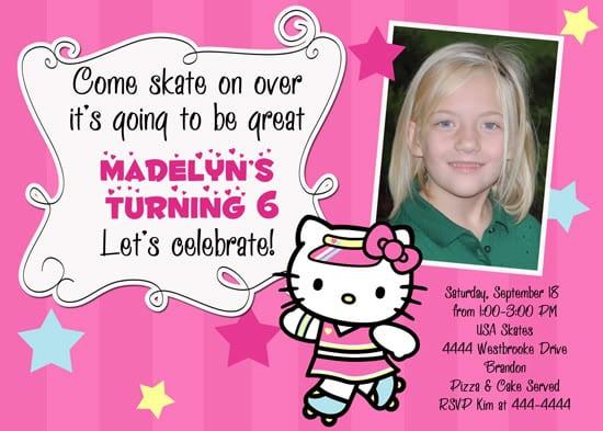 Hello Kitty Cowgirl Birthday Invitations