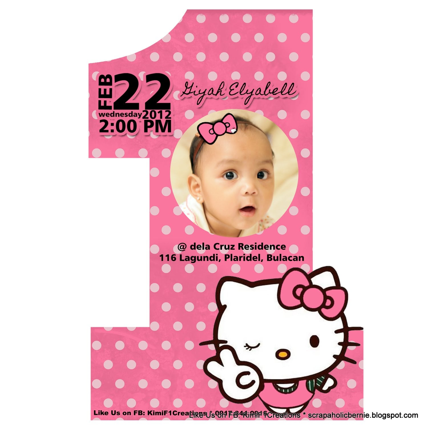Hello Kitty Invitation Cards Birthday