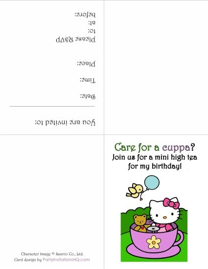 Hello Kitty Invitation Cards Free