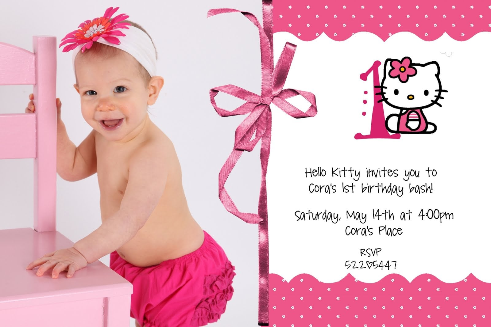 Hello Kitty Invitation Designs