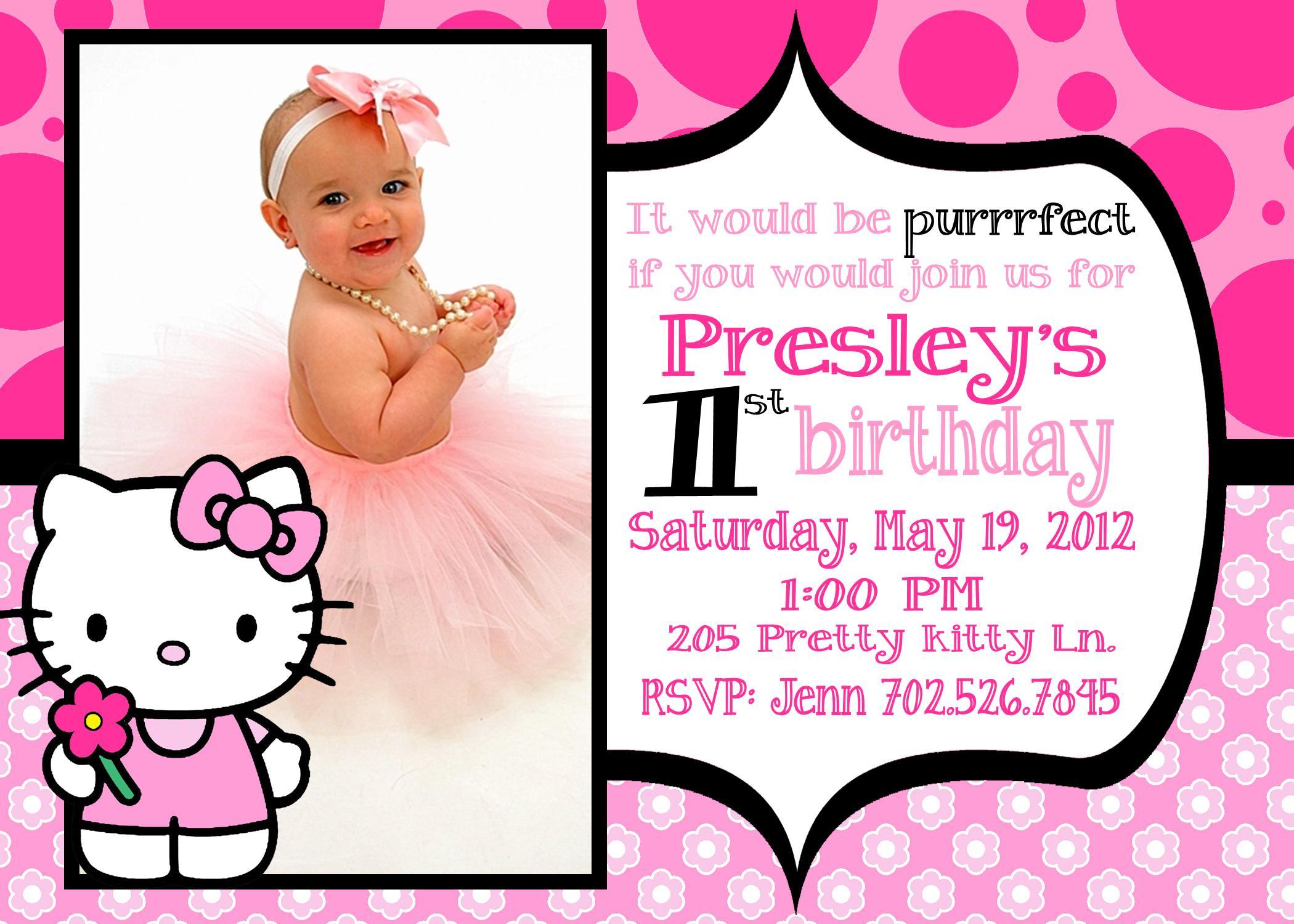 Hello Kitty Invitation Images