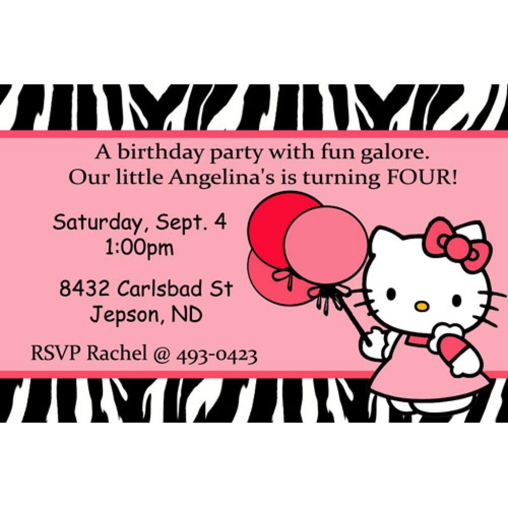 Hello Kitty Invitations Print