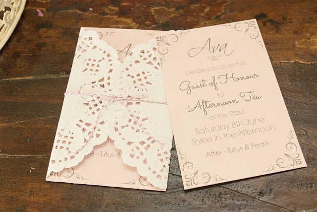 High Tea Invitation Ideas
