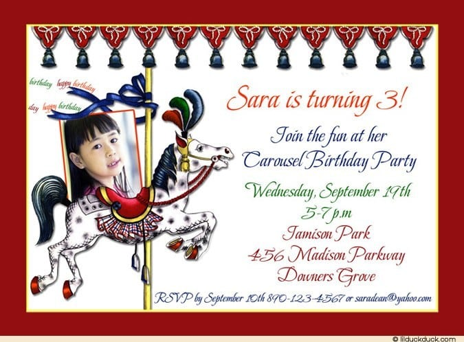 Horse Party Invitation Wording