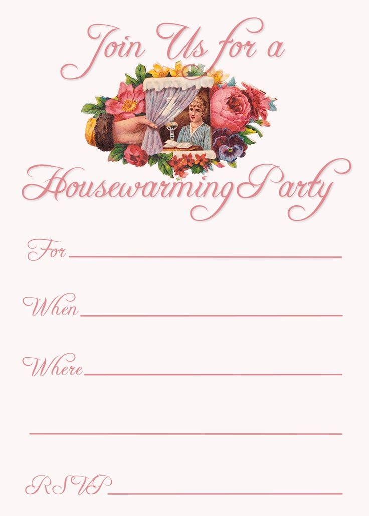 Housewarming Invitations Templates Free Printable