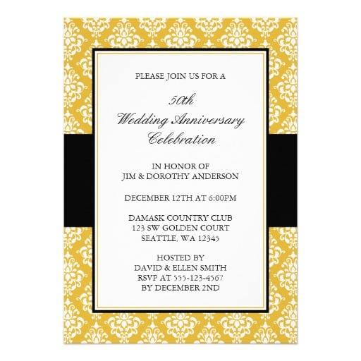 Invitation 50th Wedding Anniversary