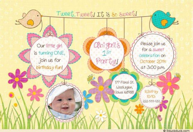 Invitation birthday cards invitation birthday cards for 1 year old stopboris Gallery