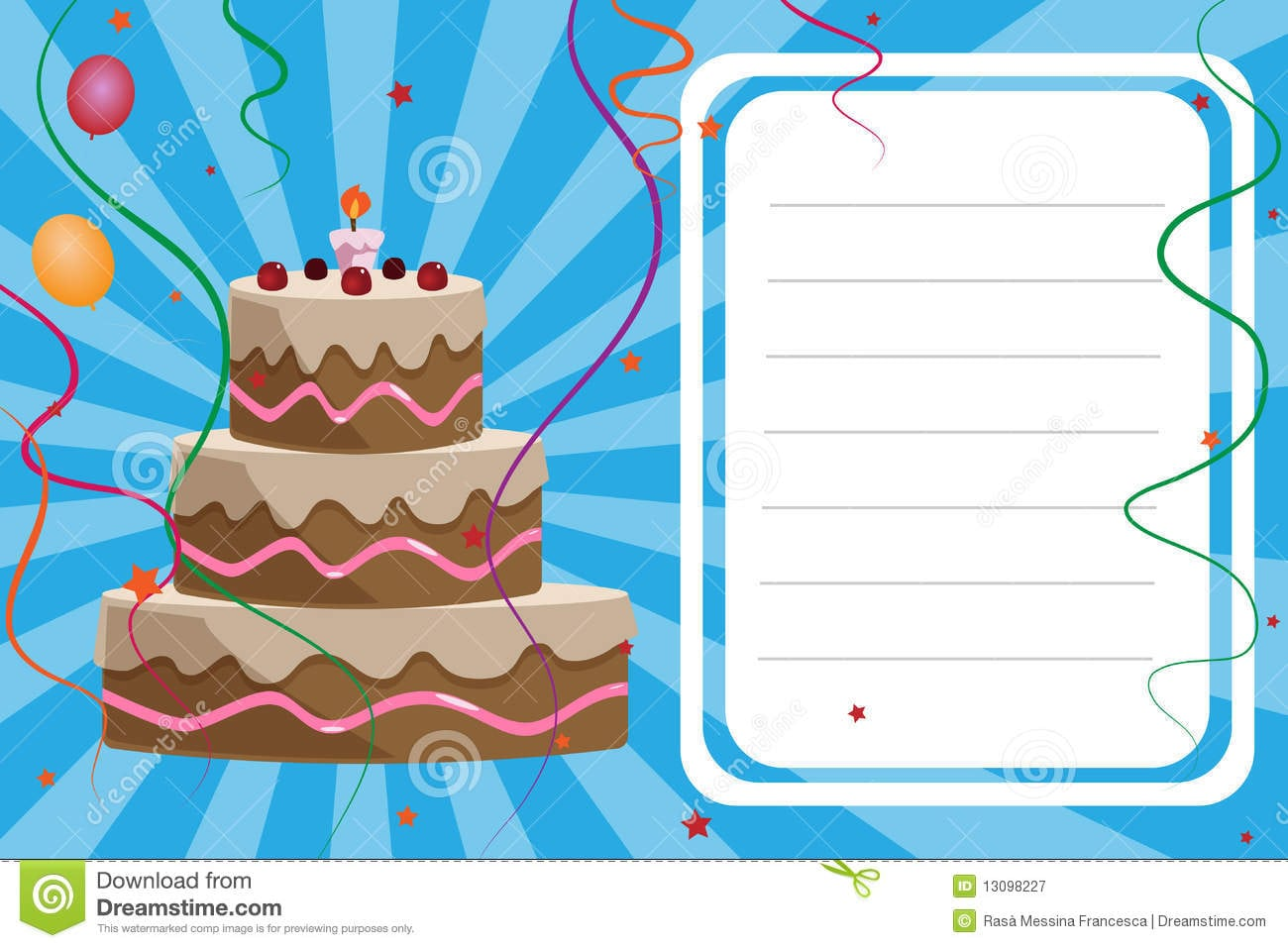 Invitation Card Birthday Boy