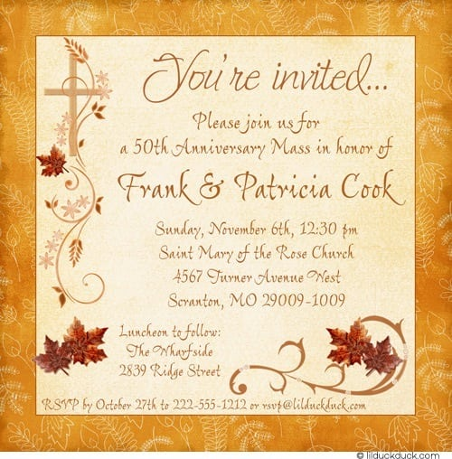 Invitation Cards For Thanksgiving