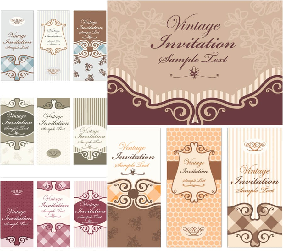 Invitation Cards Designs Free Download Vector