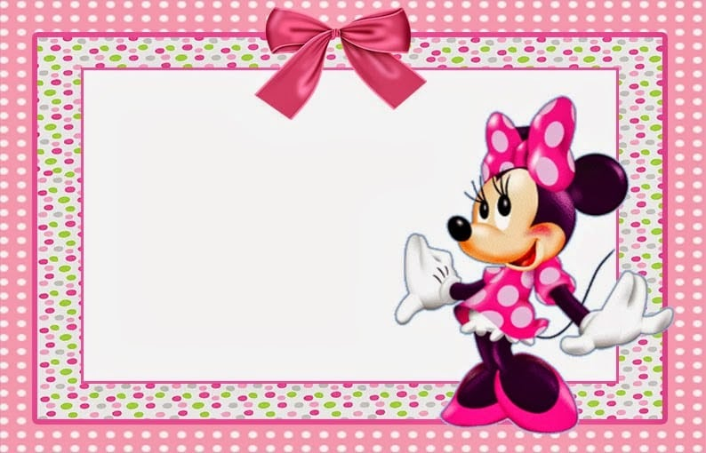 Invitation Cards Minnie Mouse