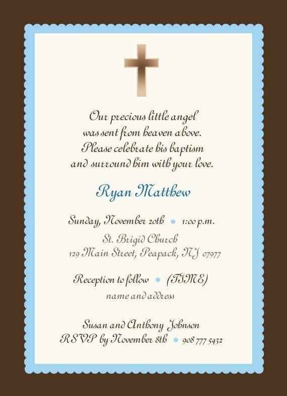 Invitation For Christening For Baby Boy