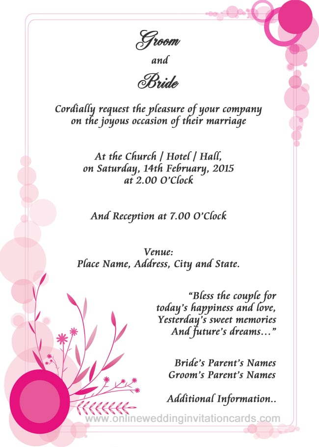 Invitation Format For 50th Birthday