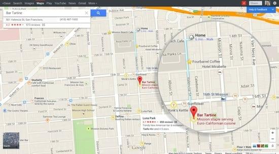 Invitation Maps Google