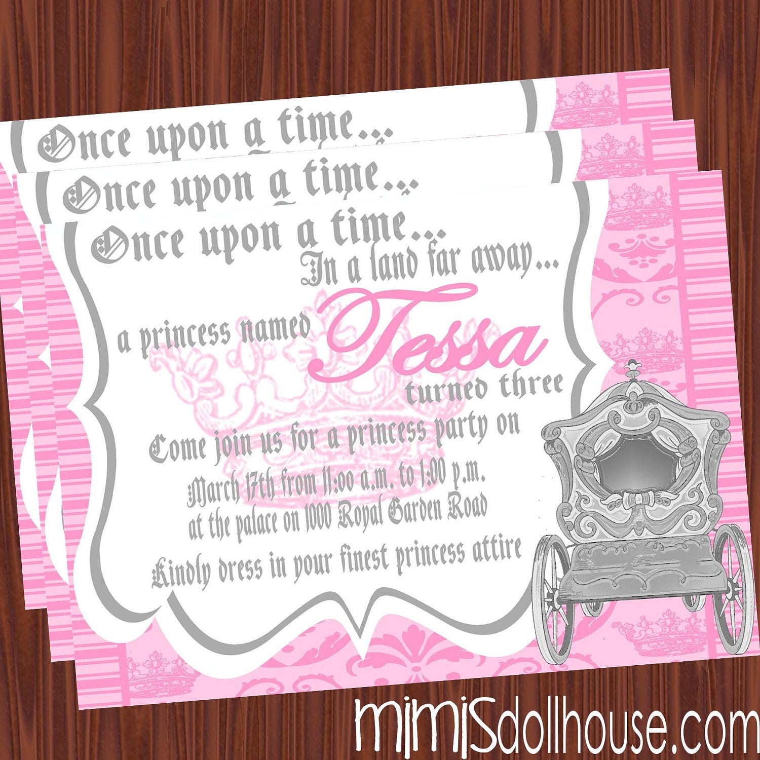 Invitation Wording For Princess Party