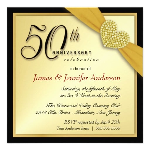 Invitations For 50th Anniversary Party