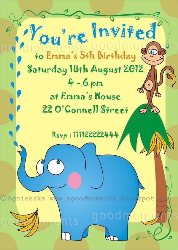 Kid Party Invitations Free
