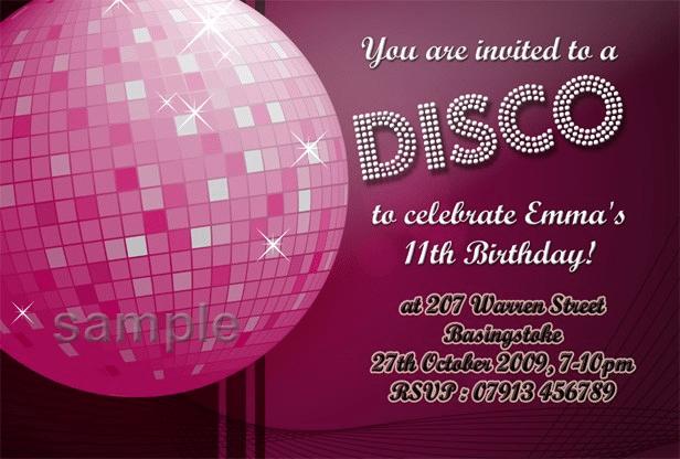 Kids Disco Invitation