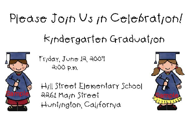 Kinder Graduation Invitations