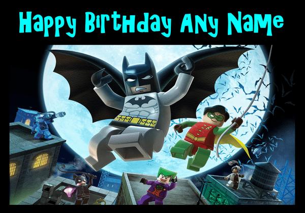 Lego Batman Invitation For Kids