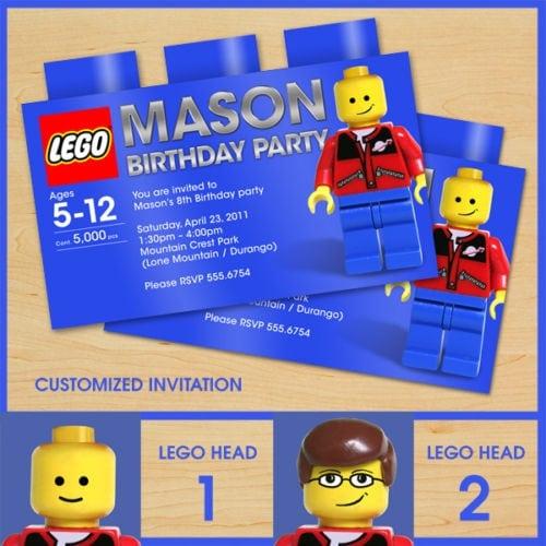 Lego Birthday Invitation Printable