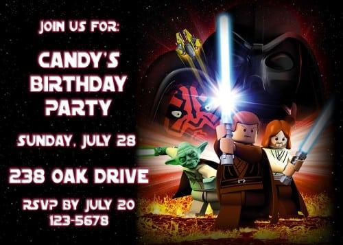 Lego Star Wars Printable Invitations