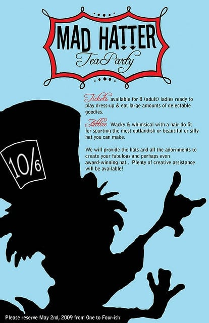 Mad Hatter Party Invitation
