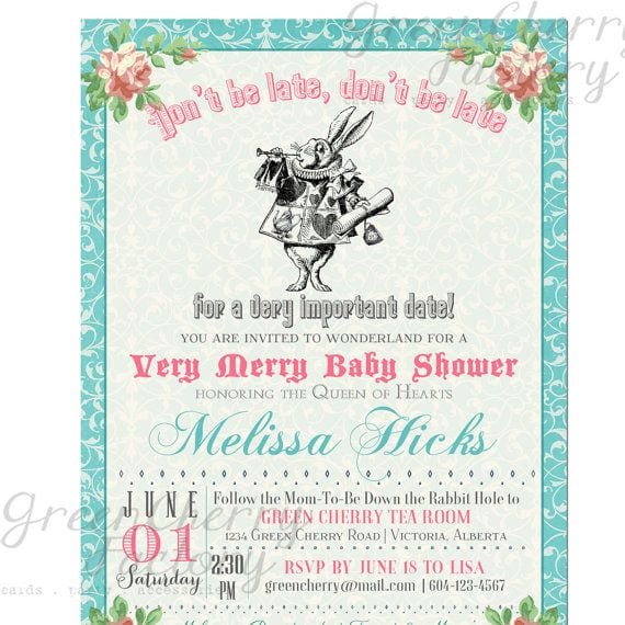 Mad Hatter Party Invitation Templates