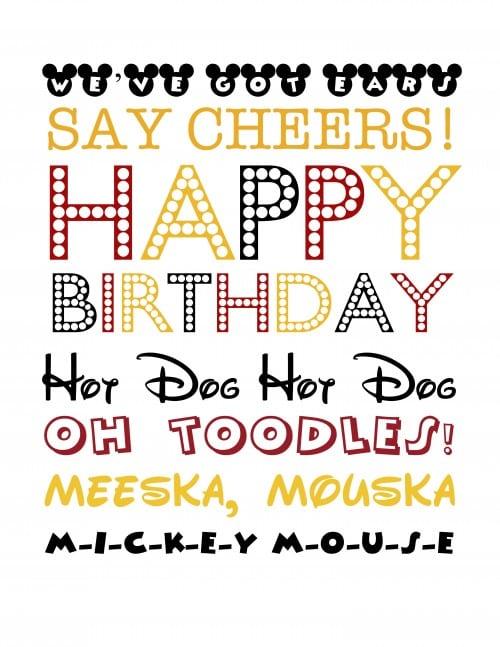 Mickey Mouse Birthday Printables Free