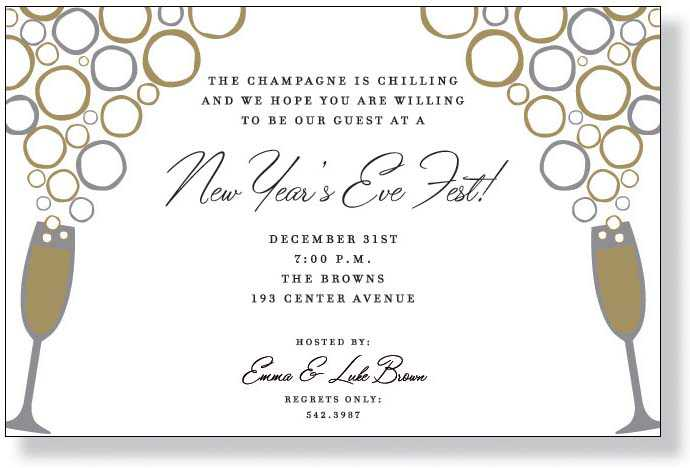 Nye party invitation for New year invite templates free