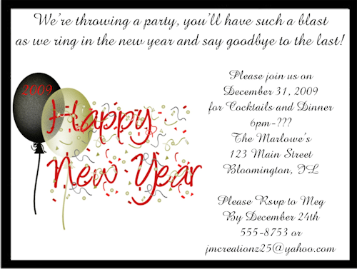Nye Party Invitations