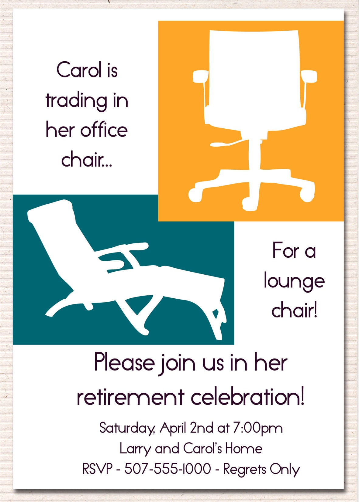 Office Retirement Party Invitation Template