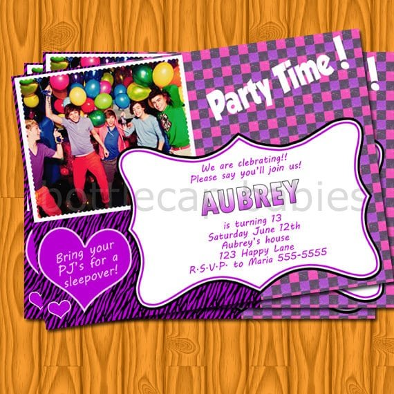 One Direction Free Printable Birthday Invitations