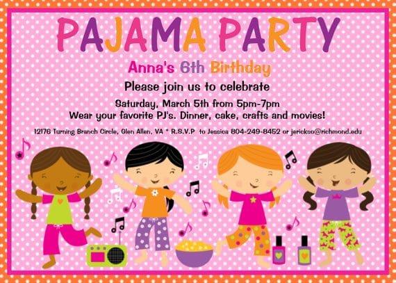 Pajama Party Invitation Printable
