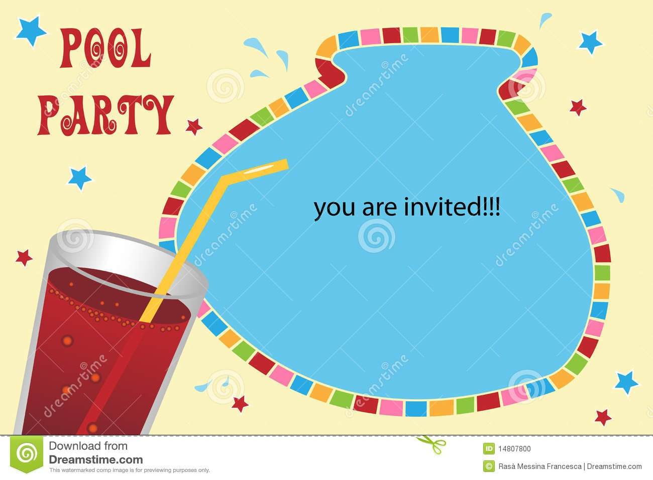 Party Pool Card Invitation