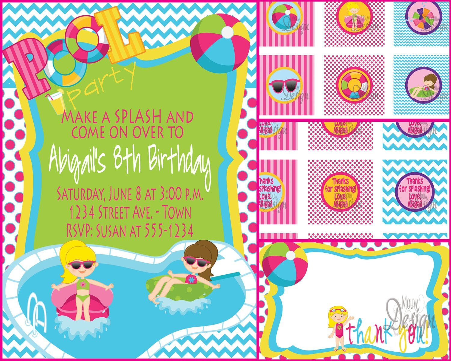 Pdf Birthday Invitation Template Swim