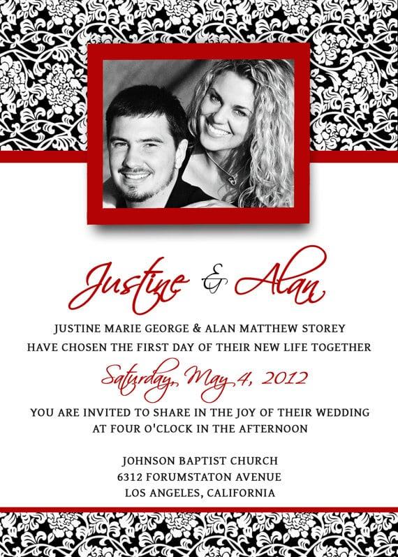 Photo Wedding Invitation Templates Photoshop