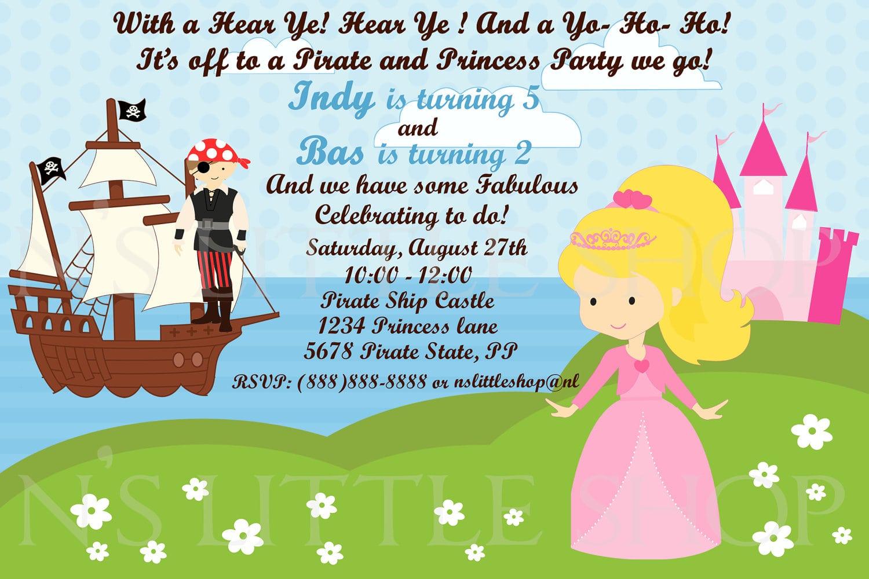 Pirate Princess Party Invitation