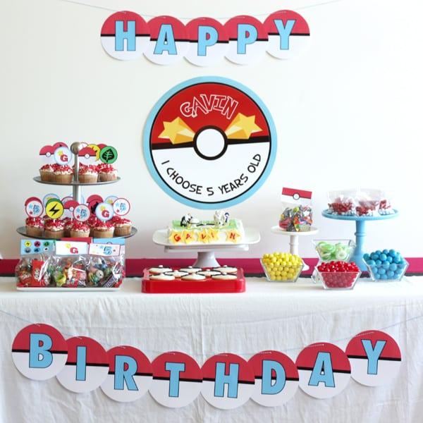 Pokeman Party Invitation