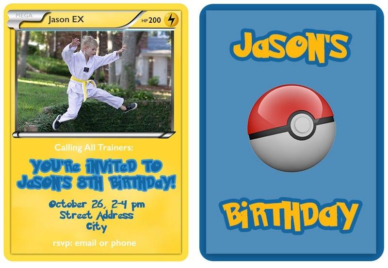 Pokemon Invitation Template Free