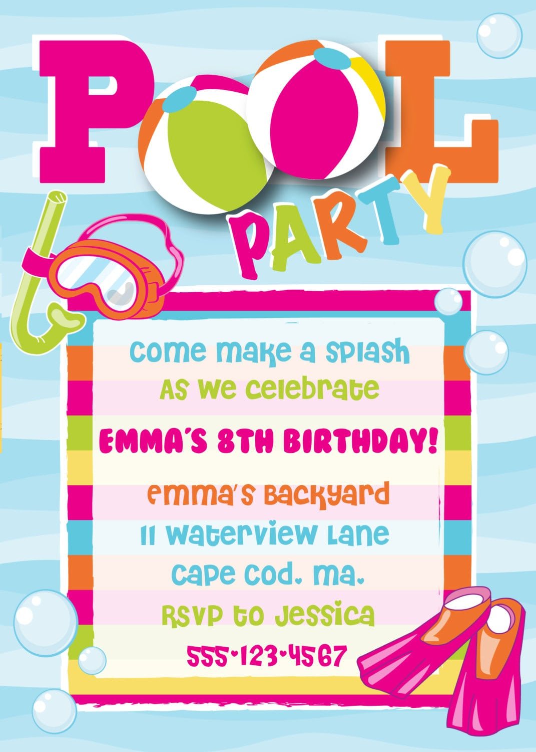 Beach Party Invitation Wording Ideas is amazing invitation layout