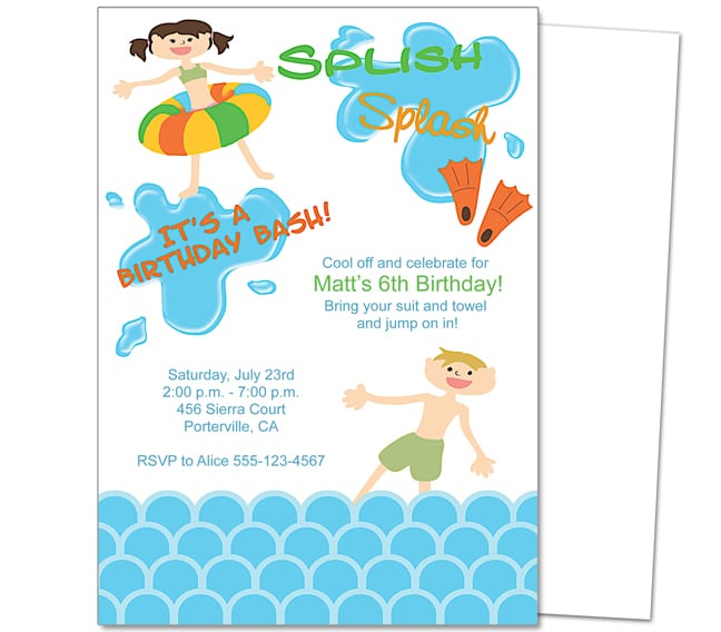 Pool Party Invitation Word Template