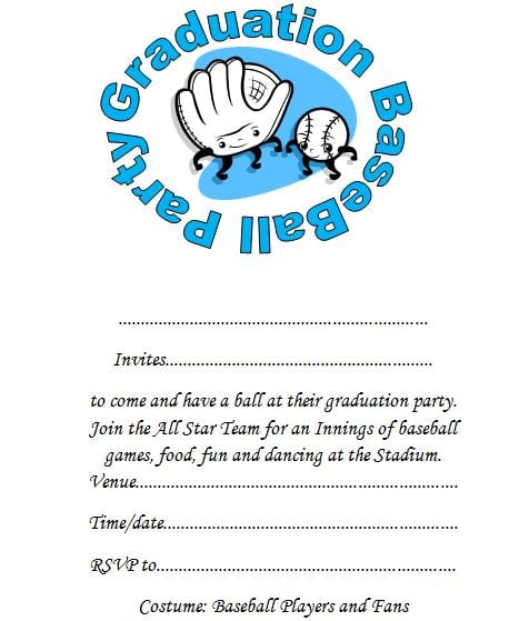 Pre K Graduation Invitation Printout