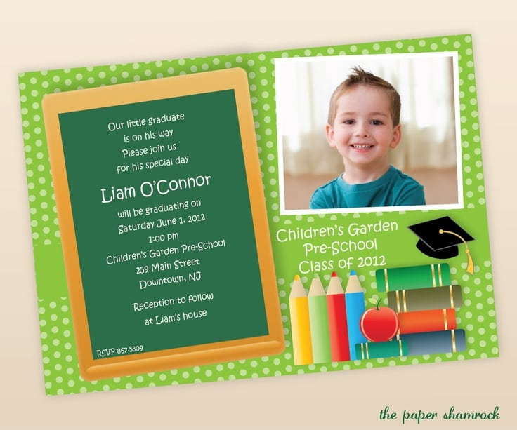 Pre School Graduation Invitation