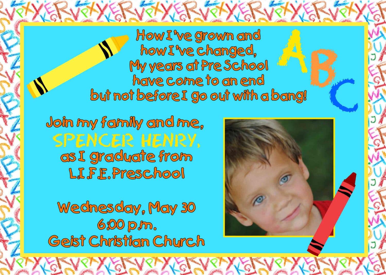 Preschool Graduation Invitation Templates Free
