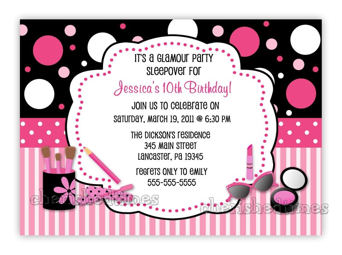 Printable 10th Birthday Party Invitations