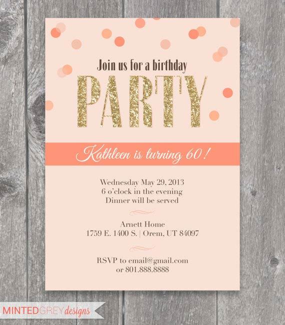 Printable Adult Birthday Invitation